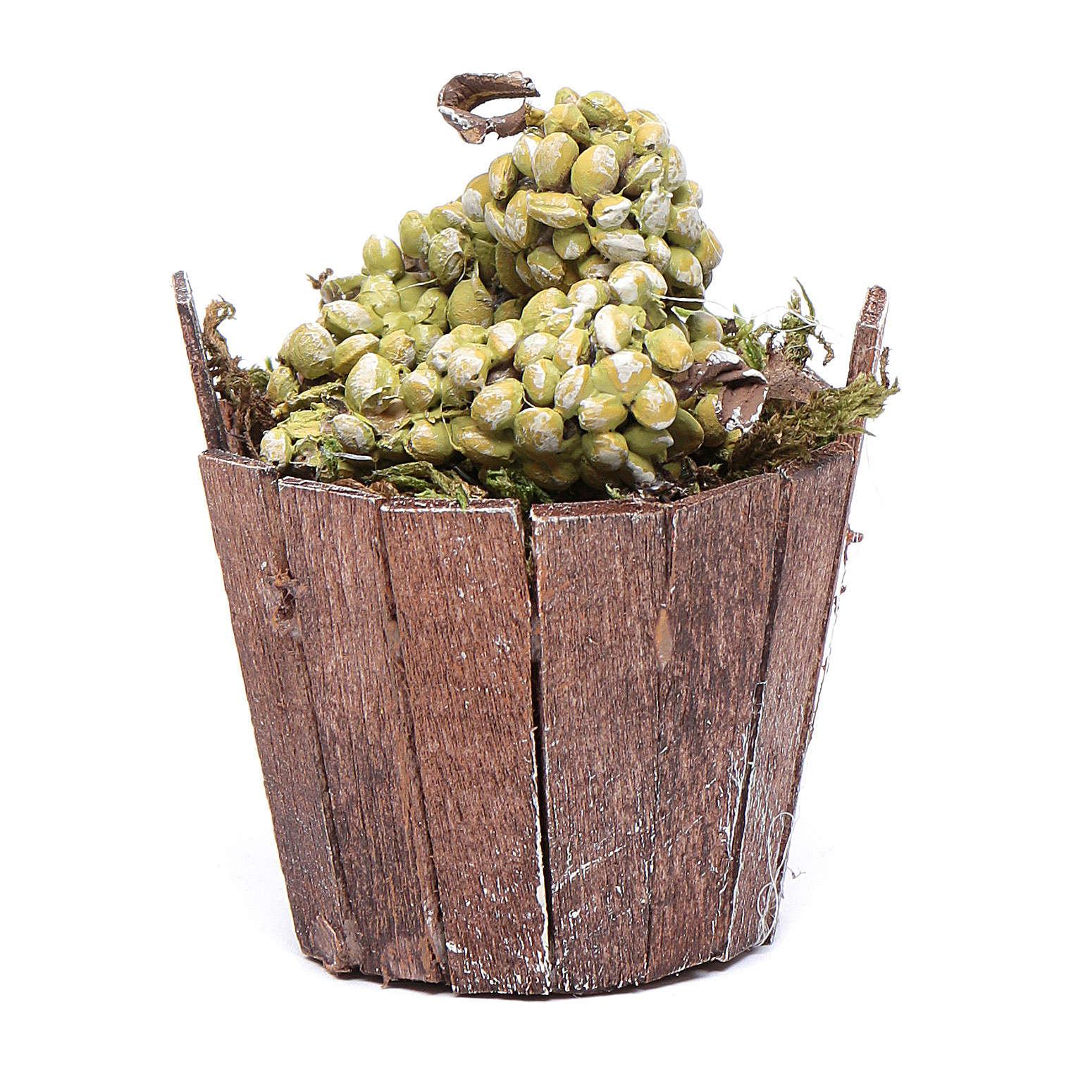 Tinozza uva verde per presepe 7 cm 4