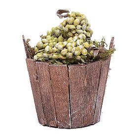 Tinozza uva verde per presepe 7 cm s1