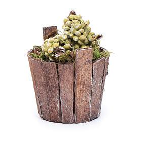 Tinozza uva verde per presepe 7 cm s2