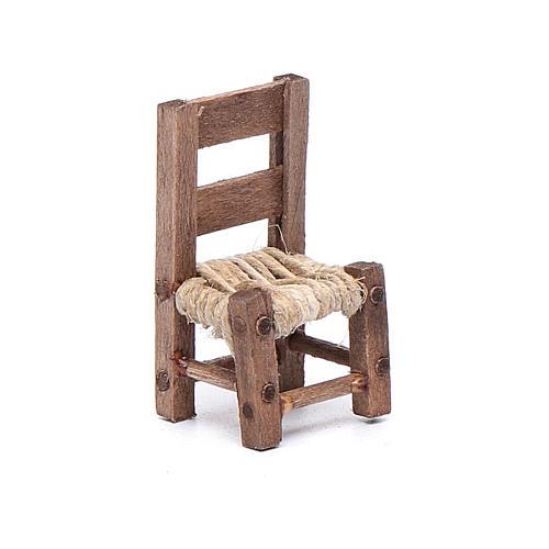 Silla de madera miniatura 3 cm belén napolitano 1