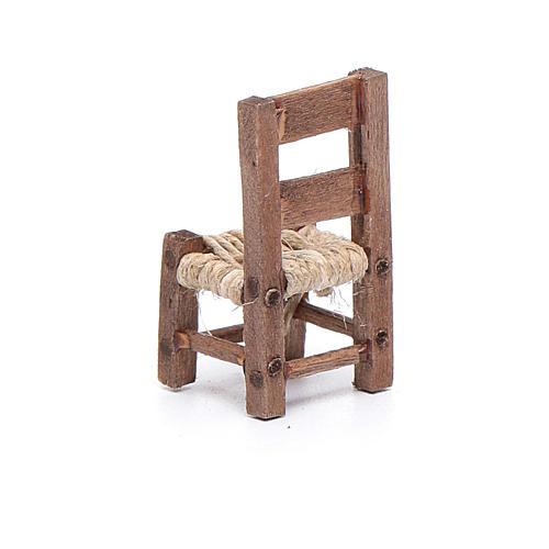 Silla de madera miniatura 3 cm belén napolitano 3