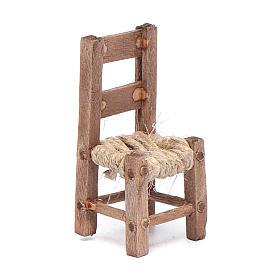Neapolitan Nativity Scene: DIY wooden chair 4 cm for Neapolitan nativity scene