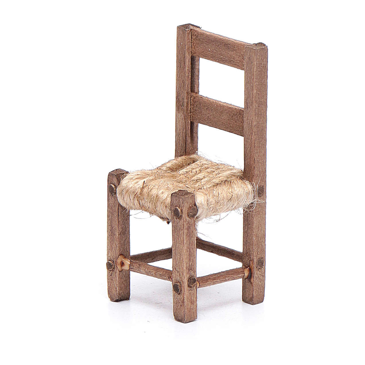 Chair in wood and rope 5 cm, Neapolitan nativity scene 4