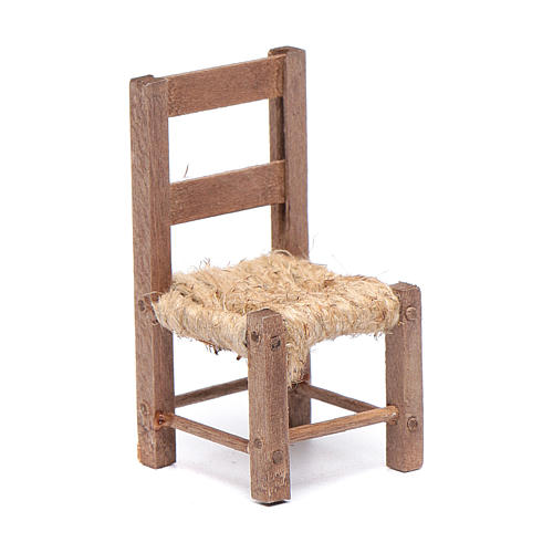 Wooden chair and rope 6 cm for Neapolitan nativity scene 1