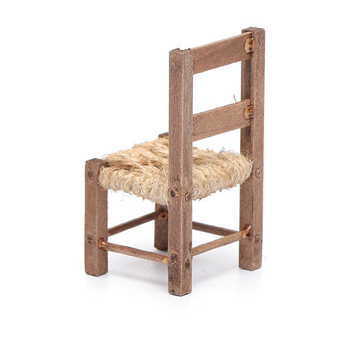 Wooden chair and rope 6 cm for Neapolitan nativity scene 3