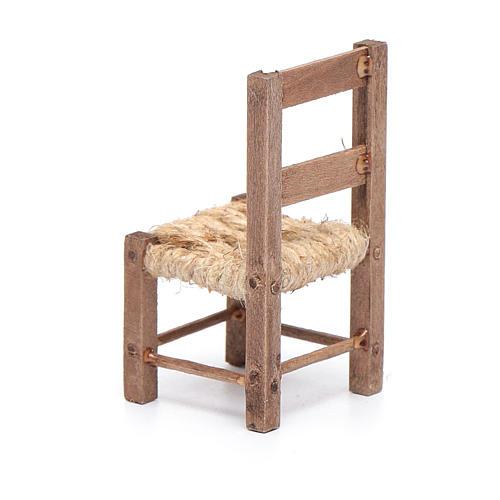 Silla madera y cuerda 6 cm belén napolitano 3