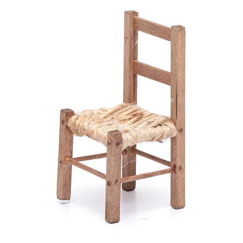 DIY wooden chiar and rope 7 cm for Neapolitan nativity scene 2