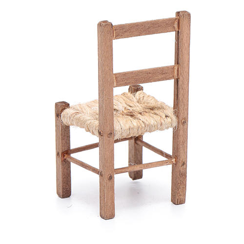 DIY wooden chiar and rope 7 cm for Neapolitan nativity scene 3
