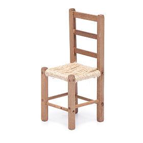 Sedia 11 cm in legno e corda presepe napoletano s2