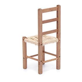 Sedia 11 cm in legno e corda presepe napoletano s3