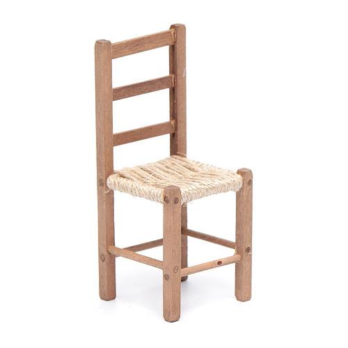 Sedia 11 cm in legno e corda presepe napoletano 1