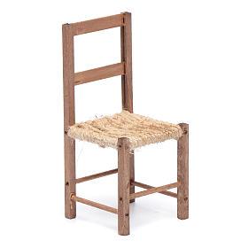 Sedia legno e corda 12 cm presepe napoletano s1
