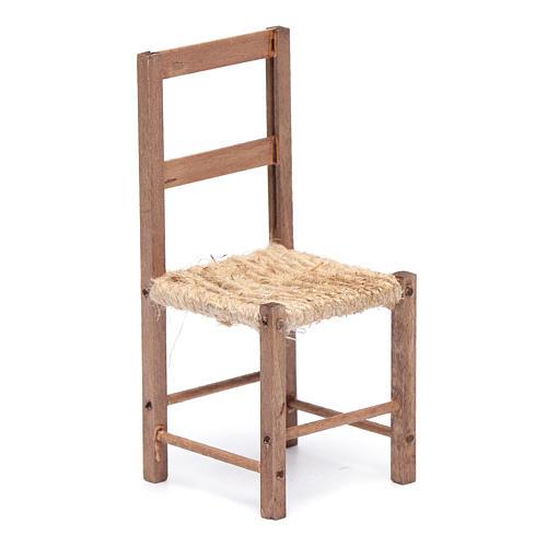 Sedia legno e corda 12 cm presepe napoletano 1