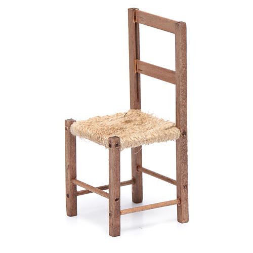 Sedia legno e corda 12 cm presepe napoletano 2