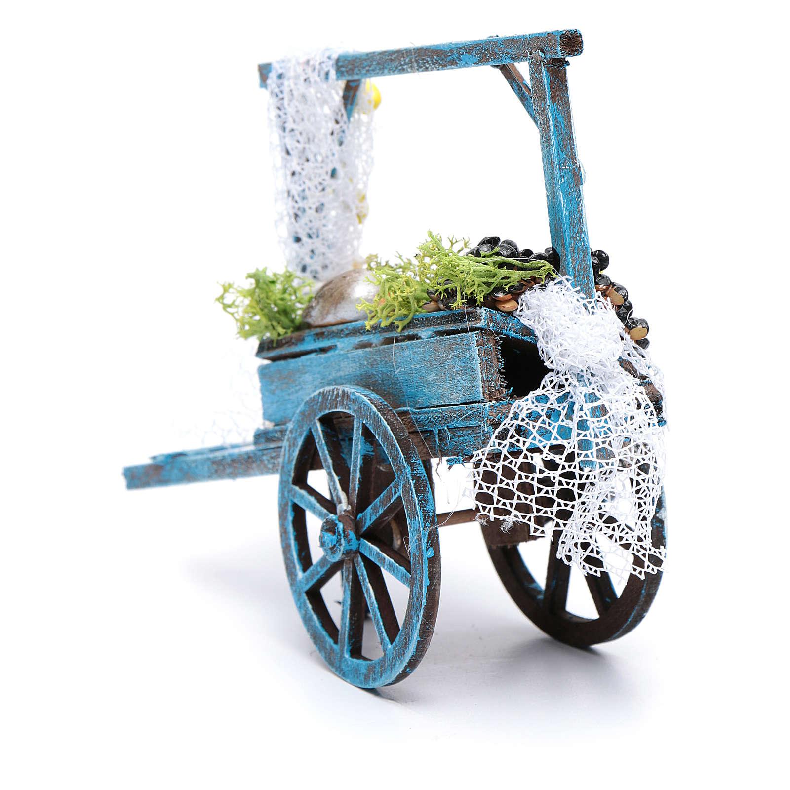 Fishmonger cart for Neapolitan nativity scene 4
