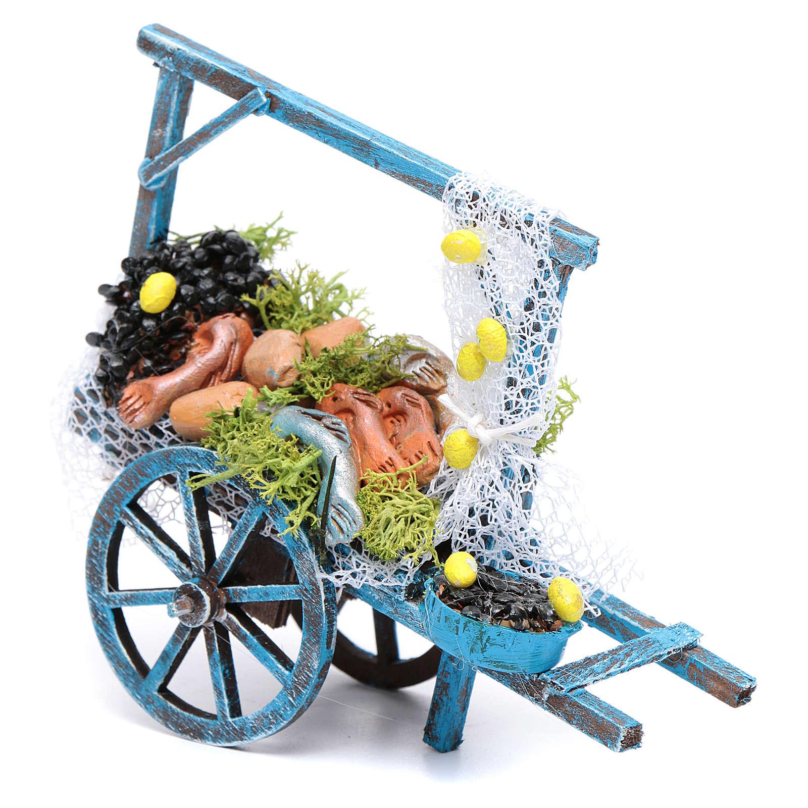 Wóz sprzedawcy ryb szopka neapolitańska 4