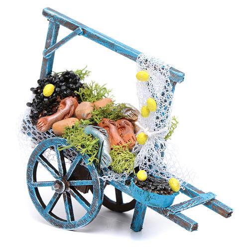 Wóz sprzedawcy ryb szopka neapolitańska 1