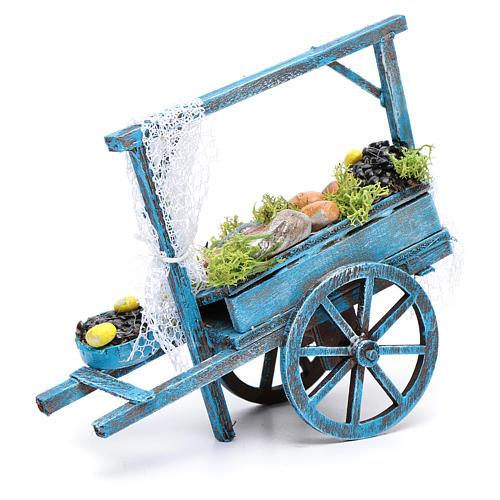 Wóz sprzedawcy ryb szopka neapolitańska 2