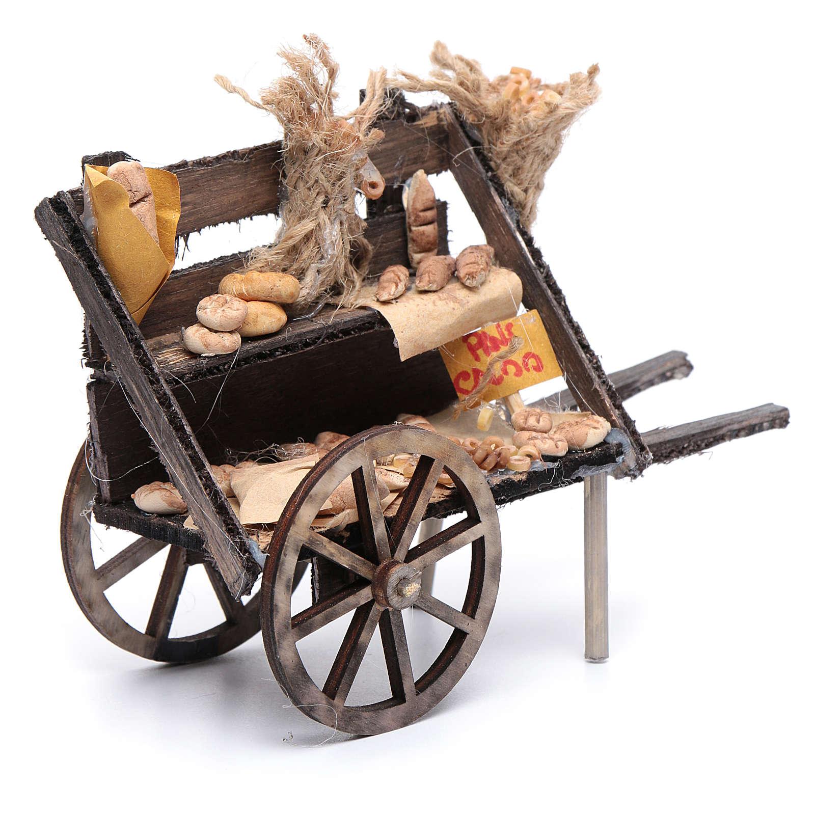Carro con pan belén napolitano 4