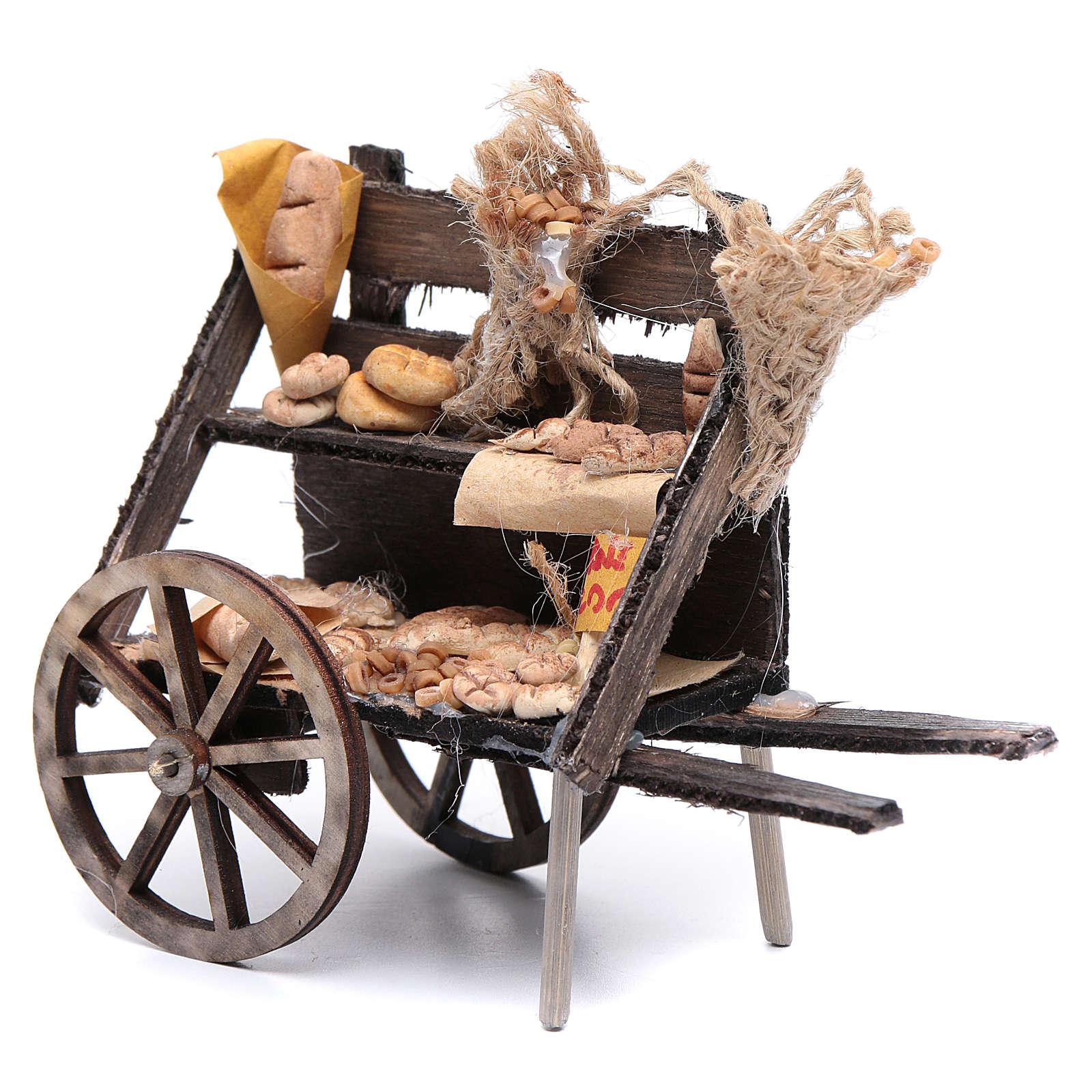 Carro con pane presepe napoletano 4