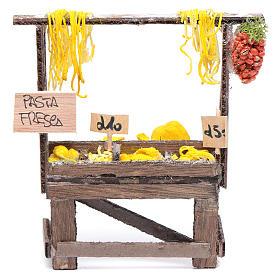 Banchetto con pasta e cartelli presepe napoletano s1