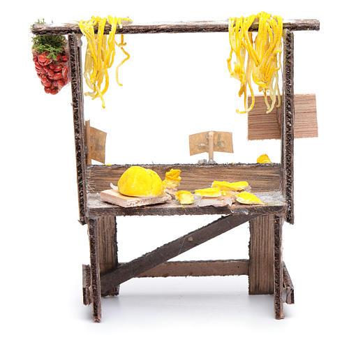 Banchetto con pasta e cartelli presepe napoletano 3