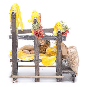 Stand with pasta and bags for Neapolitan nativity scene s1