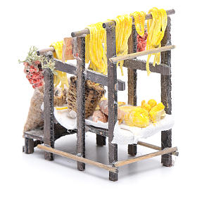 Stand with pasta and bags for Neapolitan nativity scene s4