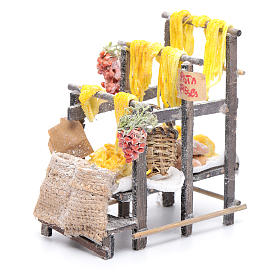 Stand with pasta and bags for Neapolitan nativity scene s5