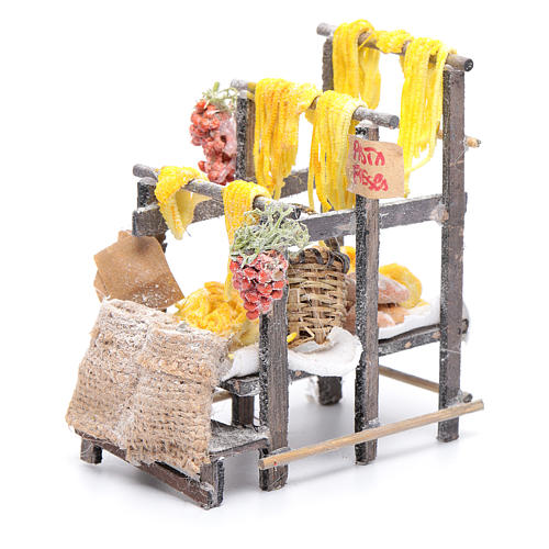Stand with pasta and bags for Neapolitan nativity scene 5