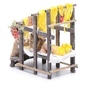 Banchetto con pasta e sacchi presepe napoletano s4
