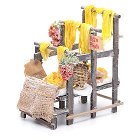 Banchetto con pasta e sacchi presepe napoletano s5