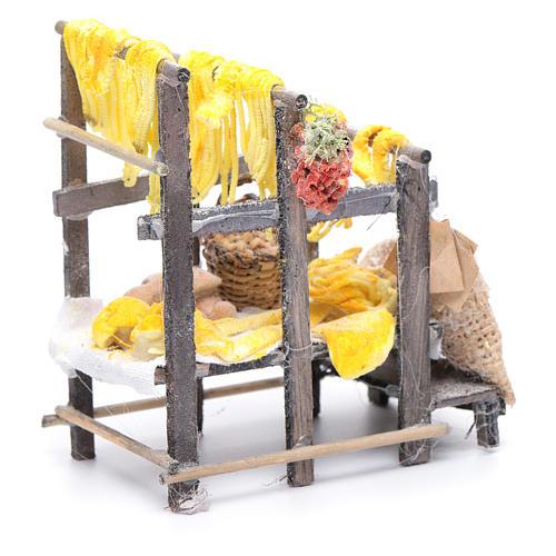 Banchetto con pasta e sacchi presepe napoletano 3