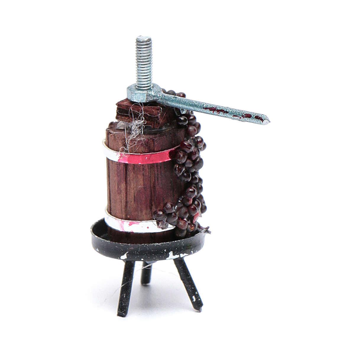 Prensa para vino mini belén napolitano 4