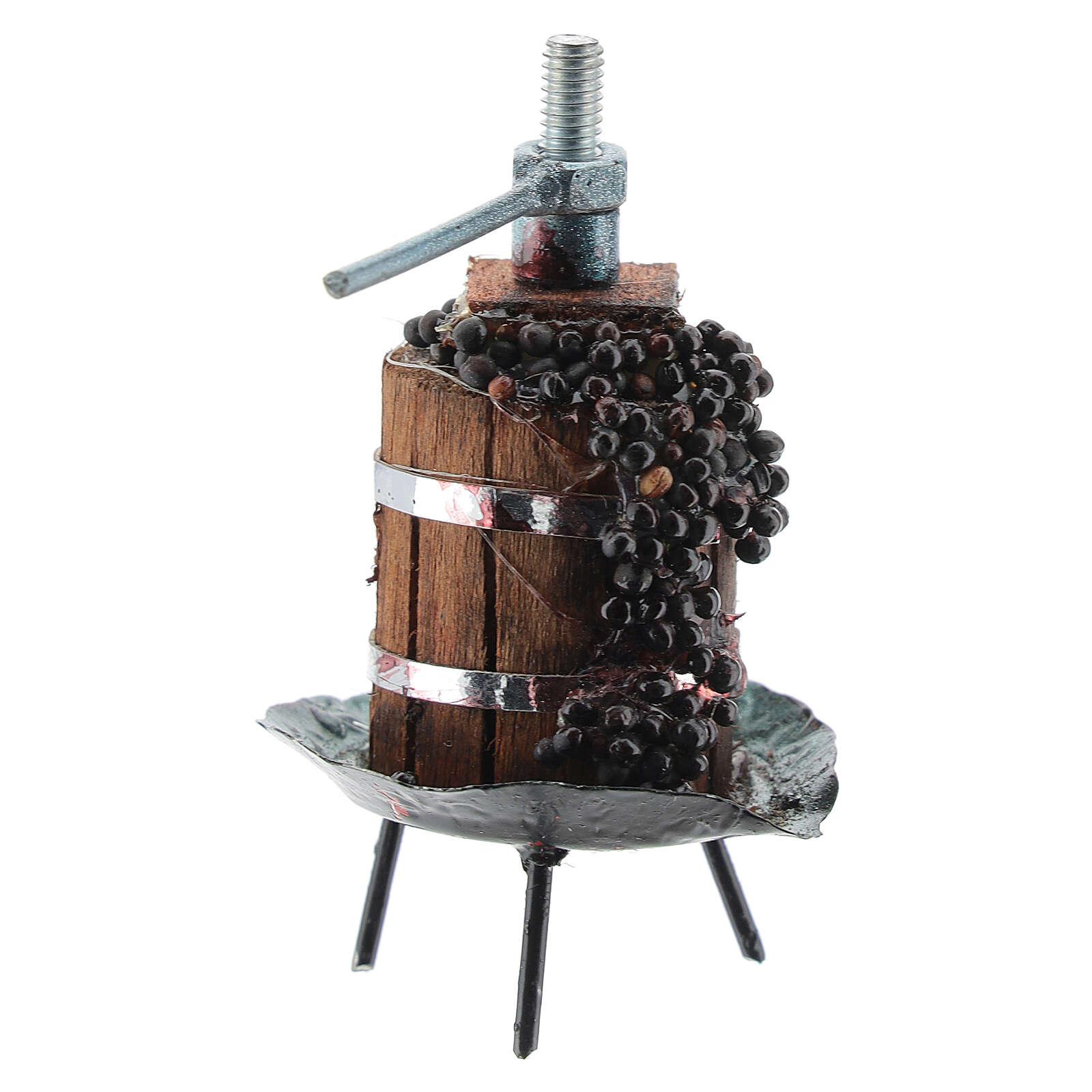 Torchio con uva per presepe fai da te 4