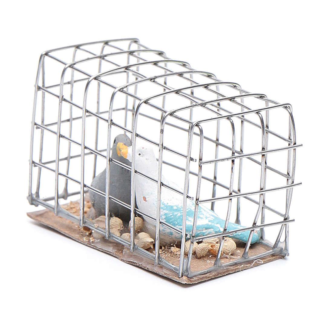 Gabbietta coppia di uccellini presepe napoletano 4