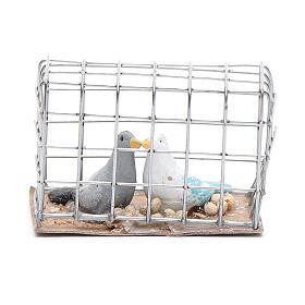 Gabbietta coppia di uccellini presepe napoletano s1