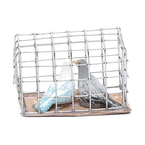 Gabbietta coppia di uccellini presepe napoletano 3