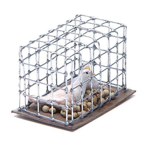 Gabbietta coppia di uccellini presepe napoletano 2