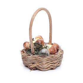 Basket with mushrooms for Neapolitan nativity scene s2