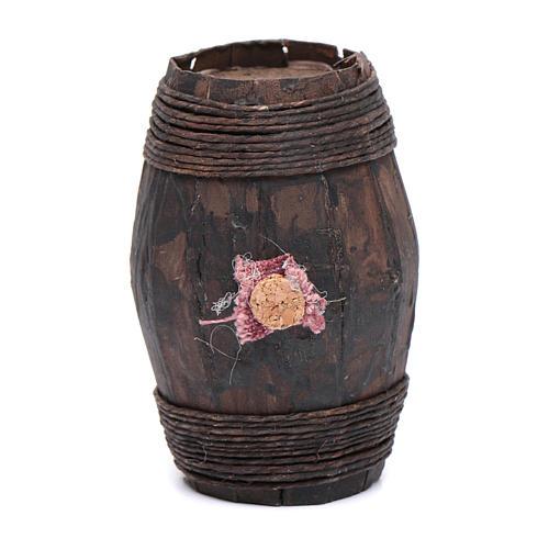 Barril madera 8 cm objeto belén napolitano