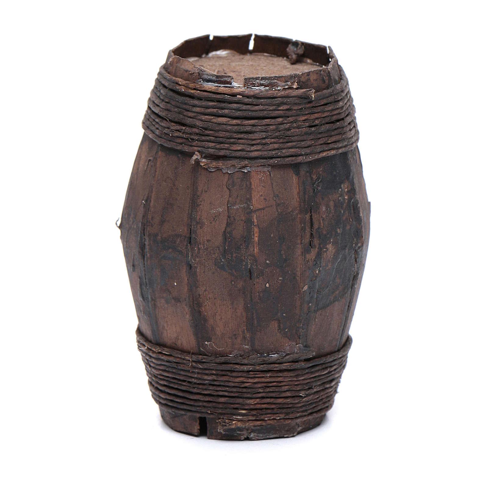 Botte legno 8 cm articolo presepe napoletano 4