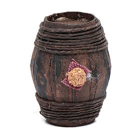 Wood barrel for Nativity scene 6 cm s1