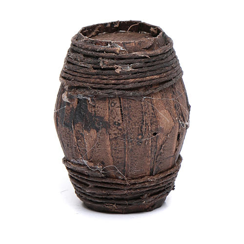 Wood barrel for Nativity scene 6 cm 2