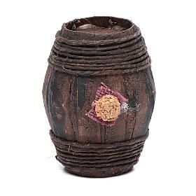 Botte legno 6 cm accessorio presepe napoletano s1