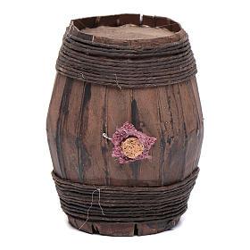 Wooden barrel sized 9 cm for Neapolitan nativity scene s1
