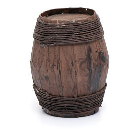 Wooden barrel sized 9 cm for Neapolitan nativity scene s2