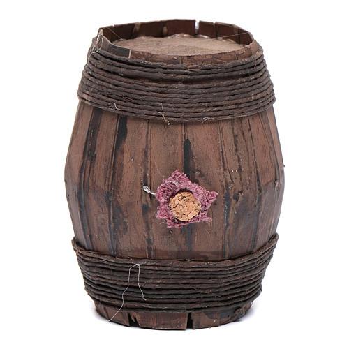 Wooden barrel sized 9 cm for Neapolitan nativity scene 1