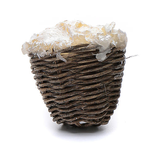 Straw basket with ricotta cheese 1