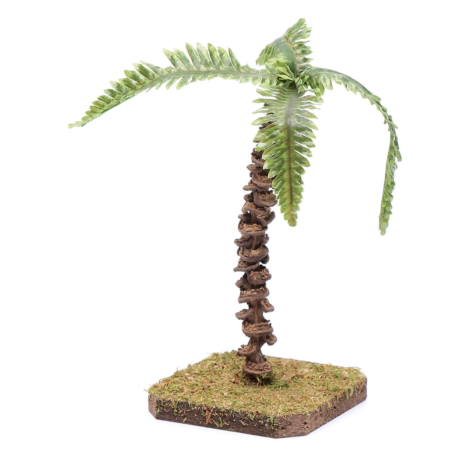 Palma con hojas moldeables 13 cm para belén 4